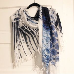 Gorgeous Scarf, Wrap, Shawl Blue Large 74x38